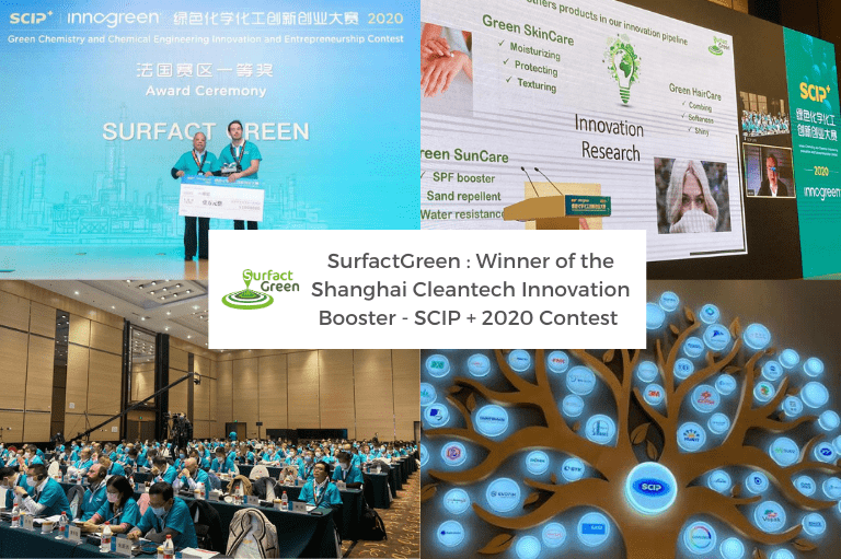 SurfactGreen : Winner of the Shanghai Cleantech Innovation Booster – SCIP + 2020 Contest !